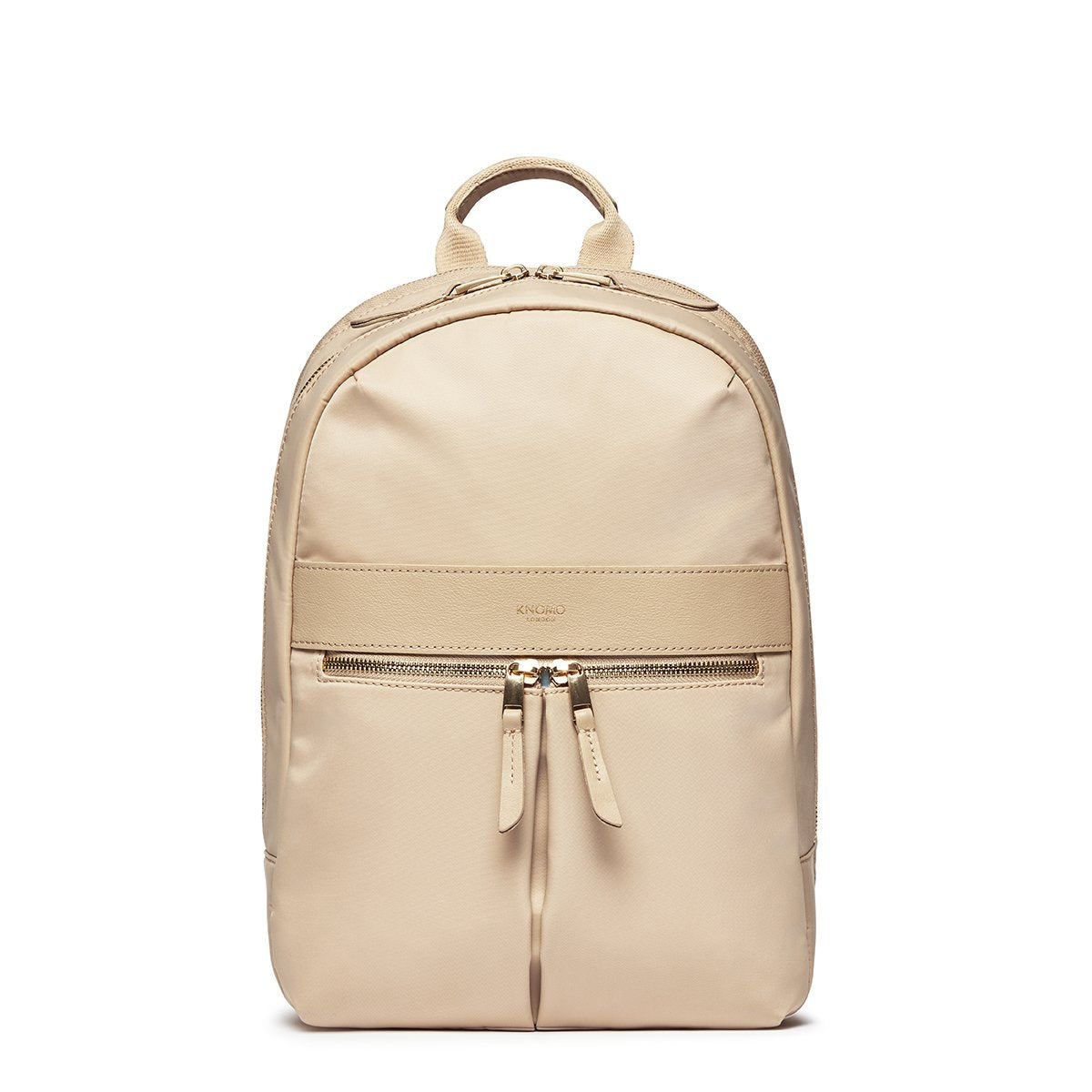 "KNOMO Mini Beaufort Backpack From Front 12"" -  Trench Beige 