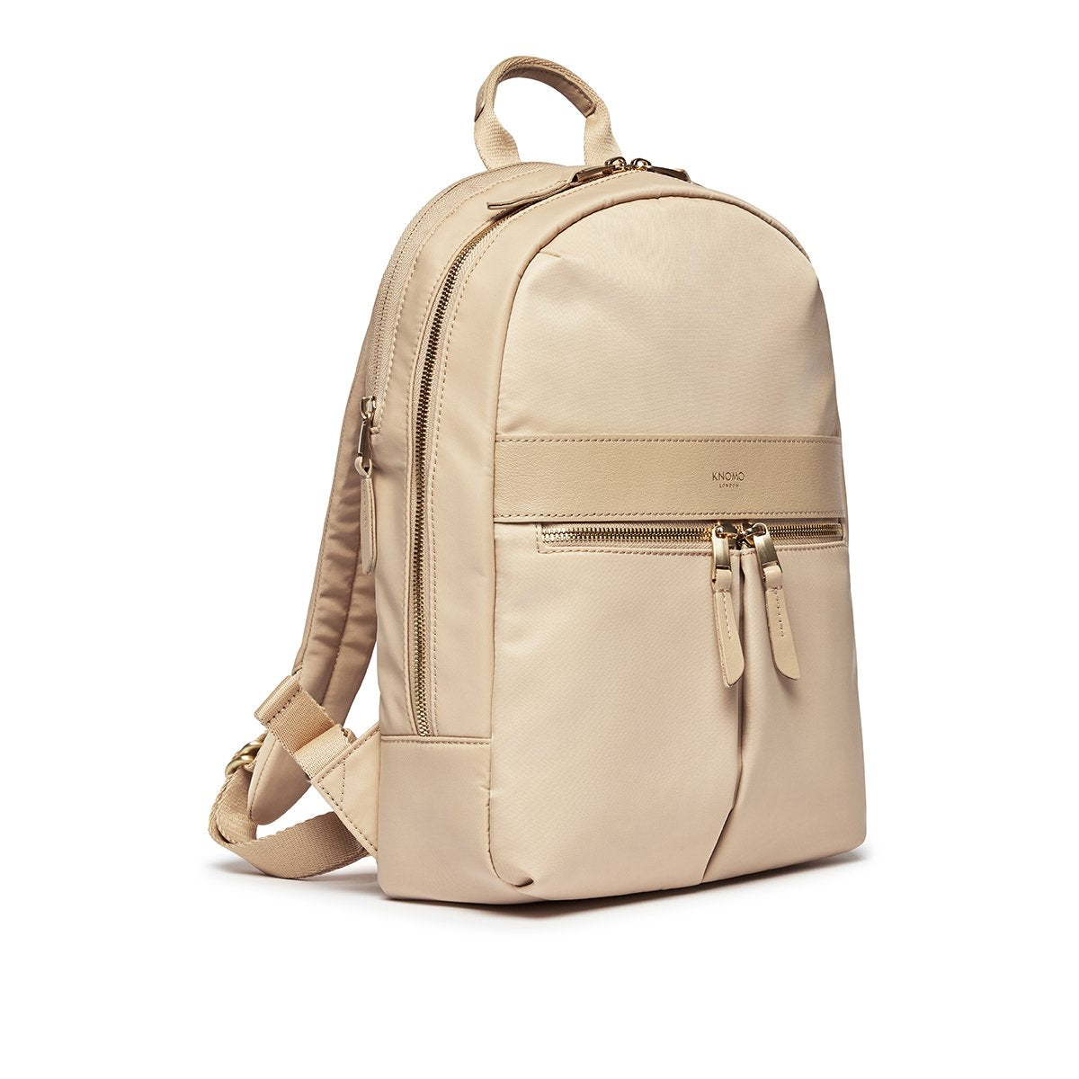 "KNOMO Mini Beaufort Backpack Three Quarter View 12"" -  Trench Beige 