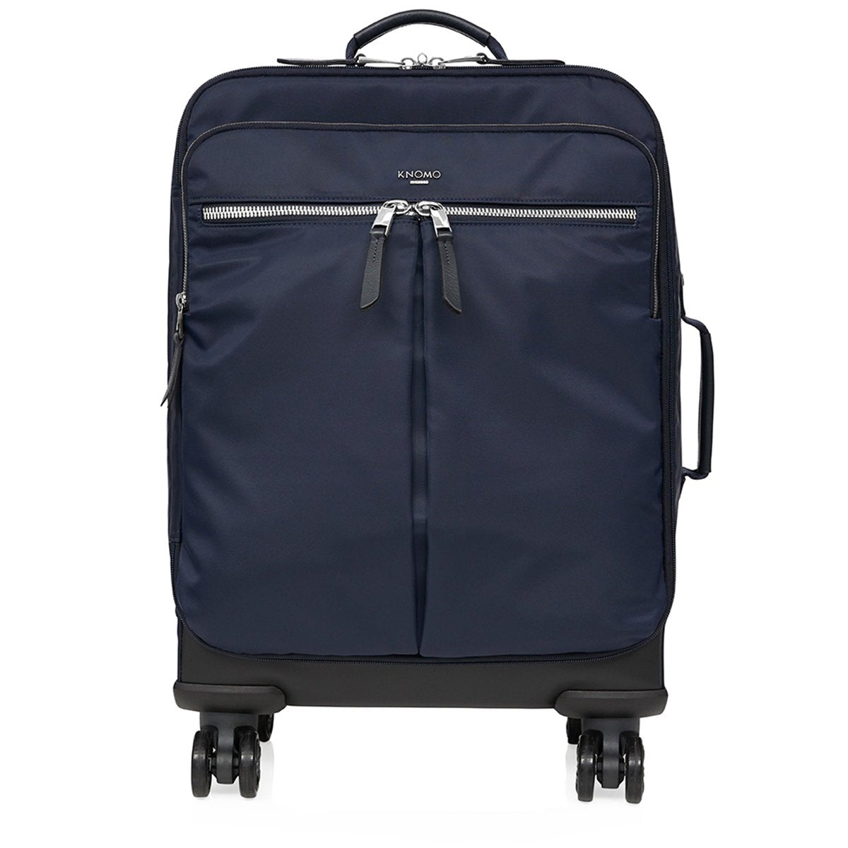 "KNOMO Park Lane Boarding Tote From Front 15"" -  Dark Navy 