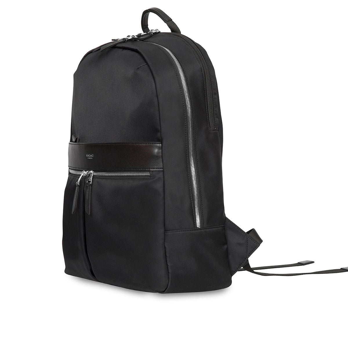 "KNOMO Beaufort Laptop Backpack Three Quarter View 15.6"" -  Black 