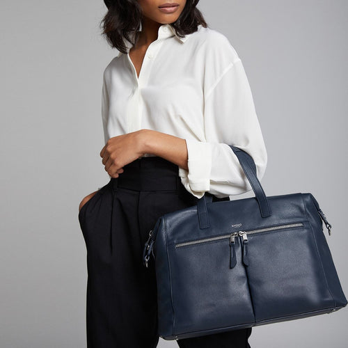 "KNOMO Audley Leather Laptop Handbag - 14"" Main Image 