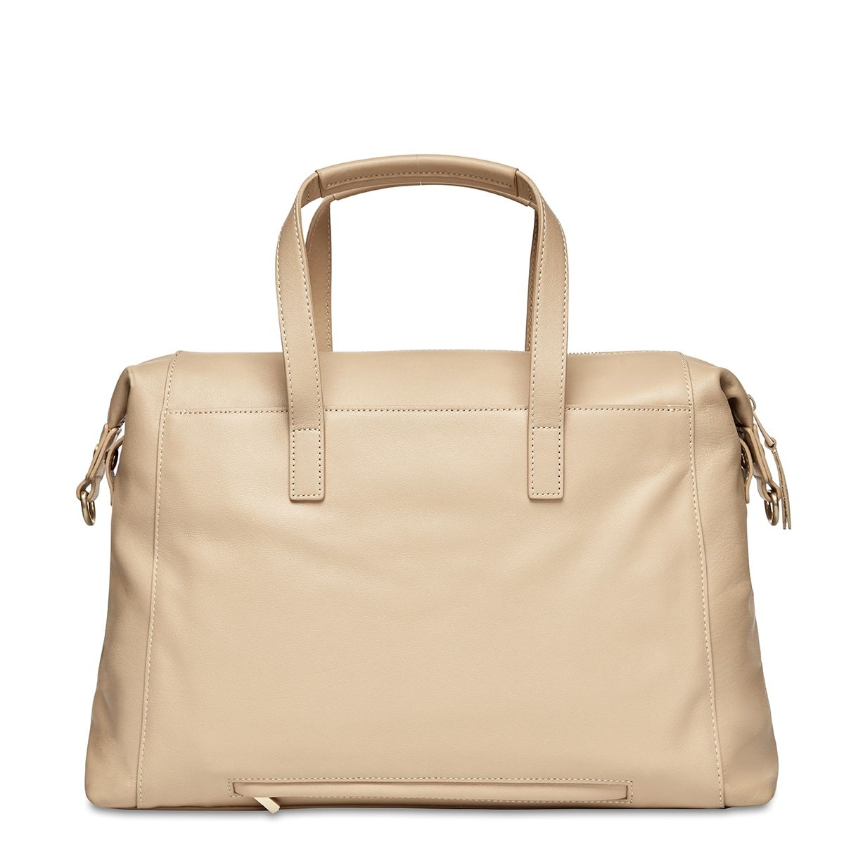 "KNOMO Audley Laptop Handbag From Back 14"" -  Trench Beige 