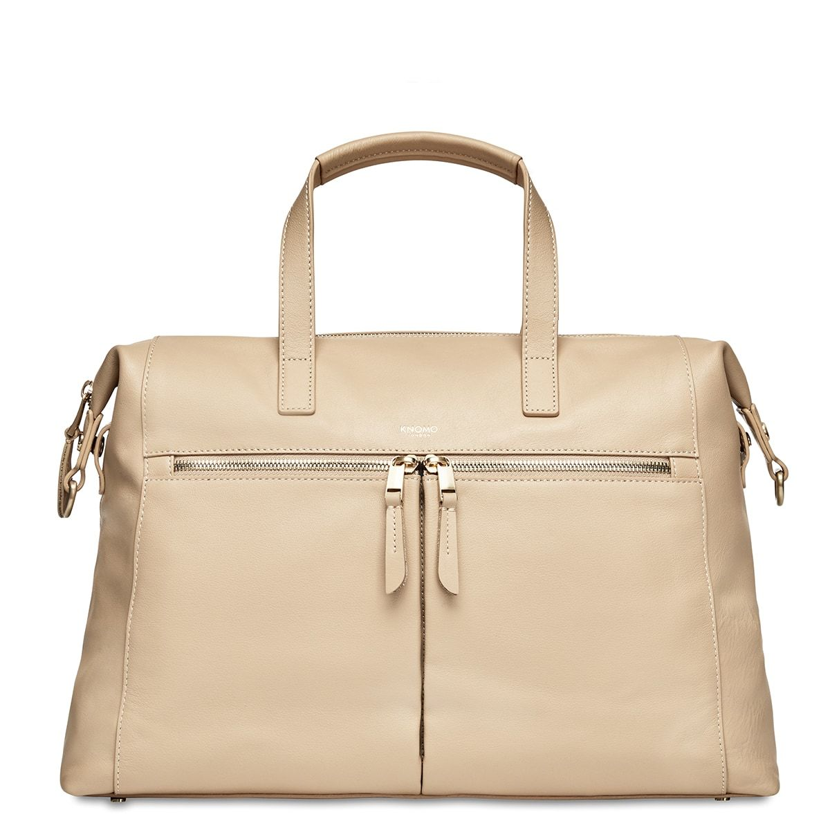"KNOMO Audley Laptop Handbag From Front 14"" -  Trench Beige 
