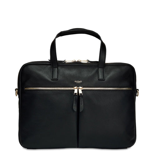 "Leather Laptop Briefcase - 14"" - Hanover 