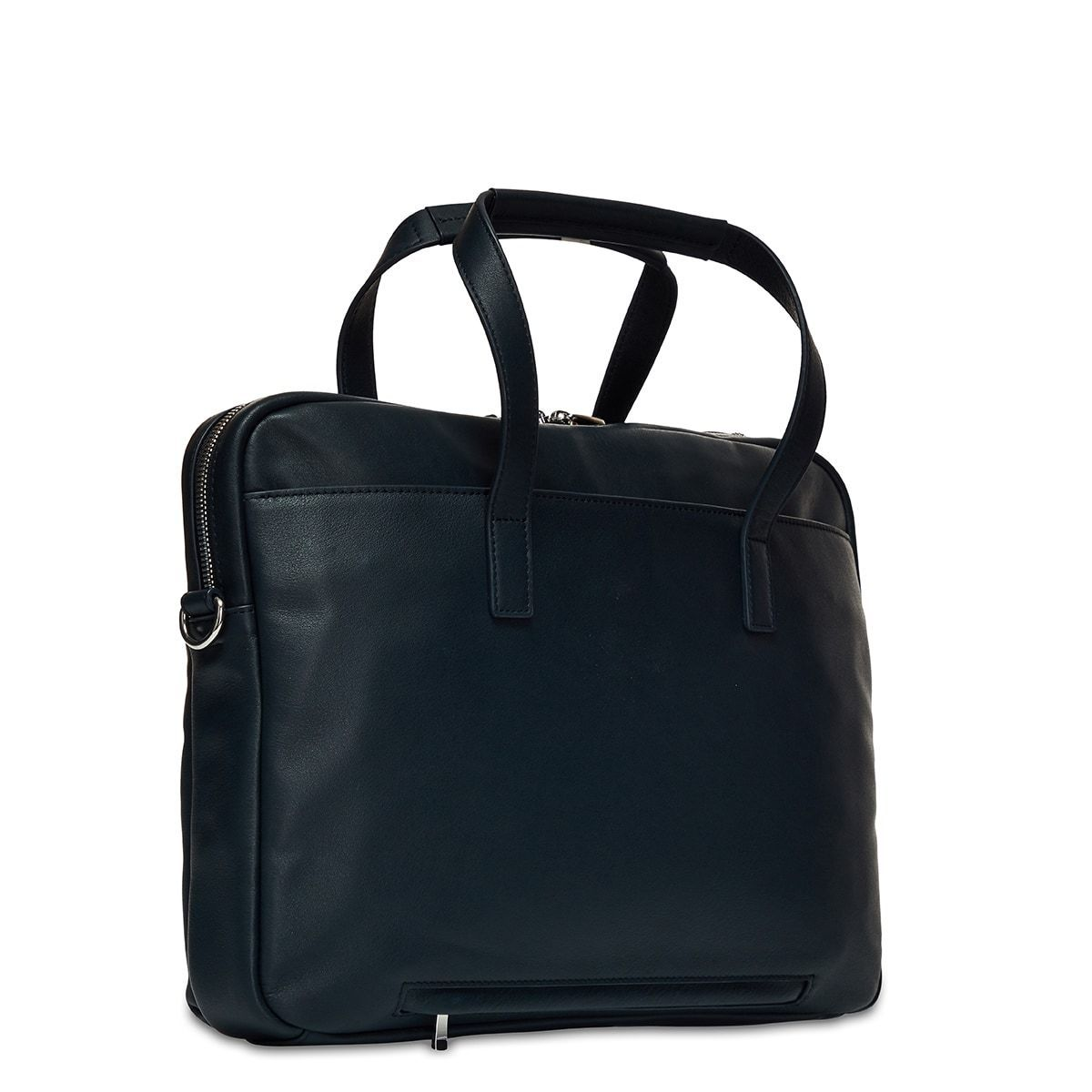"KNOMO Hanover Laptop Briefcase Three Quarter View From Back 14"" -  Dark Navy Blazer 