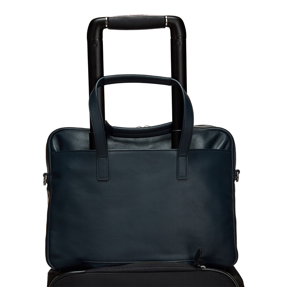 "KNOMO Hanover Laptop Briefcase Trolley Sleeve View 14"" -  Dark Navy Blazer 