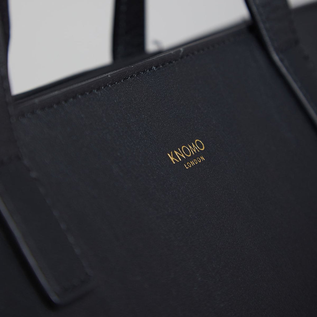 "Maddox 15"" Leather Womens Laptop Tote Bag - Black 
