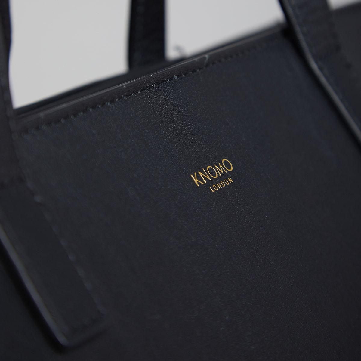 "KNOMO Maddox Laptop Tote Close Up Logo 15"" -  Black 