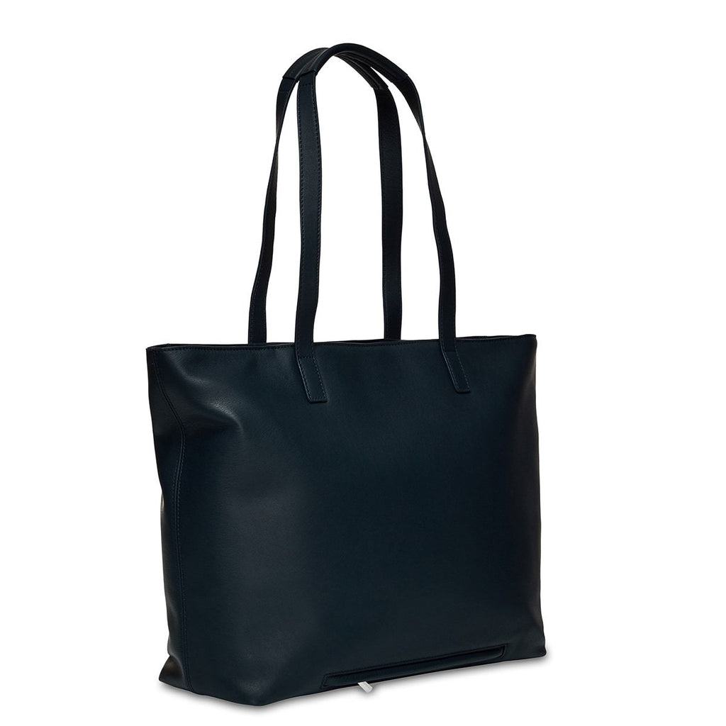 "Maddox 15"" Leather Womens Laptop Tote Bag - Dark Navy Blazer 