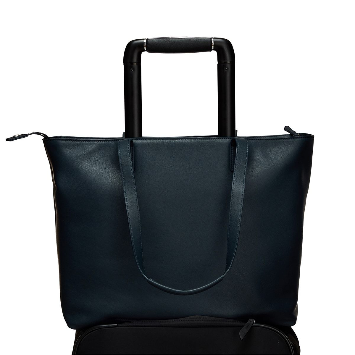 "Maddox Leather Laptop Tote Bag - 15"" -  Dark Navy Blazer 