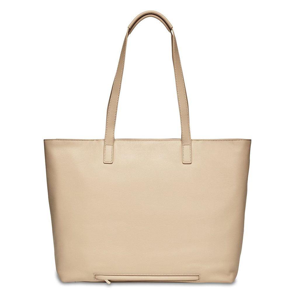 "Maddox 15"" Leather Womens Laptop Tote Bag - Trench Beige 