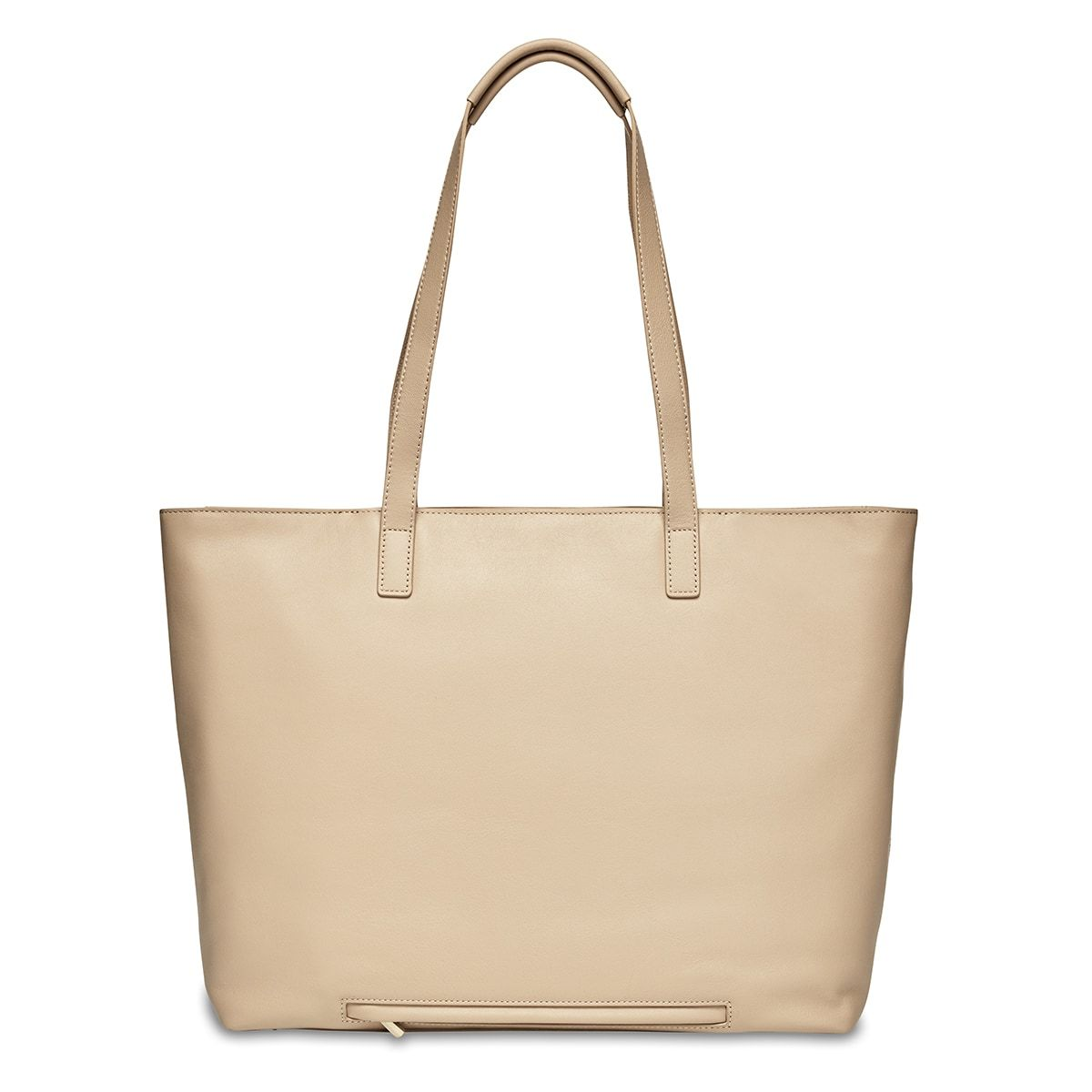 "Maddox Leather Laptop Tote Bag - 15"" -  Trench Beige 