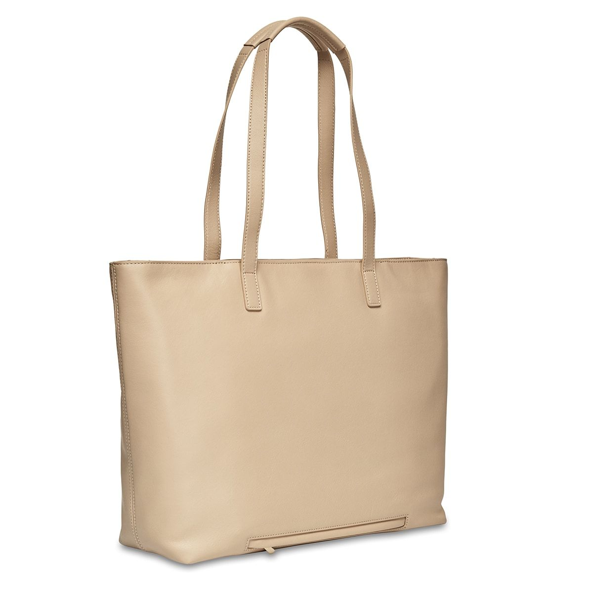 "KNOMO Maddox Laptop Tote Three Quarter View From Back 15"" -  Trench Beige 