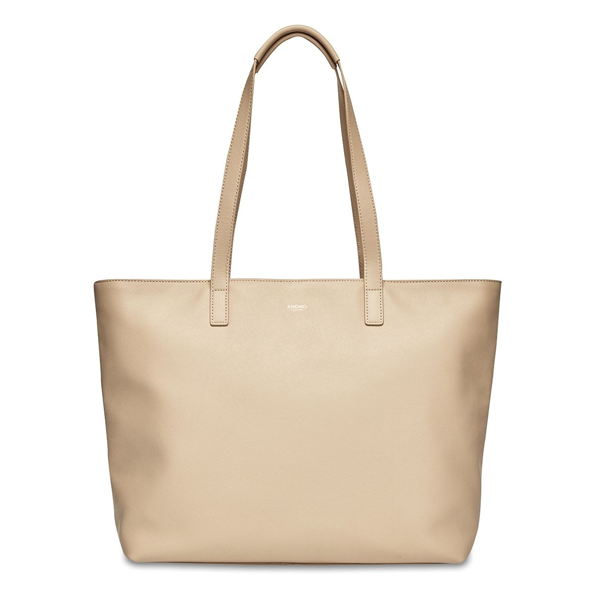 "KNOMO Maddox Laptop Tote From Front 15"" -  Trench Beige 