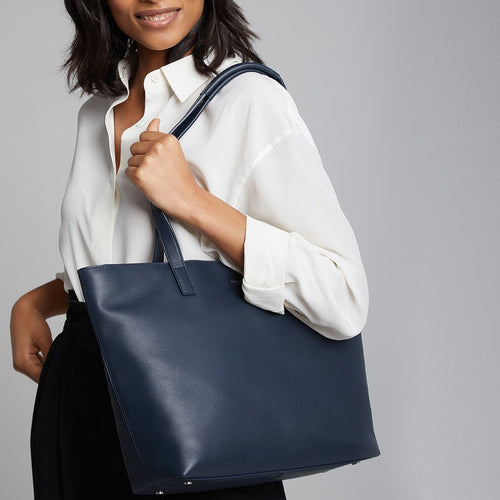 "KNOMO Mini Maddox Leather Laptop Tote Bag - 13"" Main Image 
