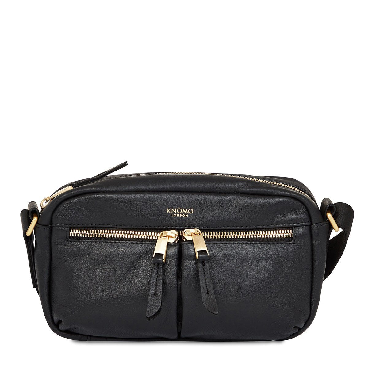 "KNOMO Brook Mini Cross-Body From Front 10.5"" -  Black 