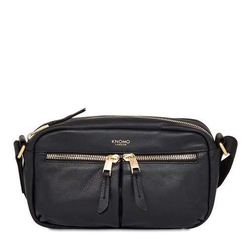 KNOMO Brook Leather Cross-Body From Front | knomo.com