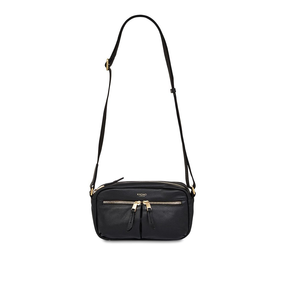 "KNOMO Brook Mini Cross-Body From Front With Strap 10.5"" -  Black 