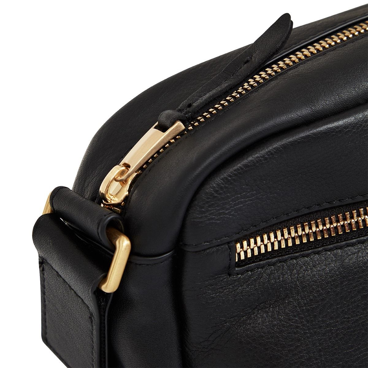 "KNOMO Brook Mini Cross-Body Zip Close Up 10.5"" -  Black 