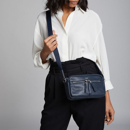 KNOMO Brook Leather Cross-Body Main Image | knomo.com