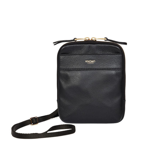 KNOMO Rex Leather Cross-Body From Front | knomo.com