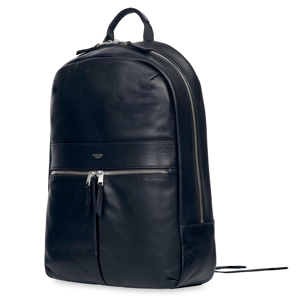 "Beaux Women's Leather 14"" Laptop Backpack - Dark Navy Blazer 