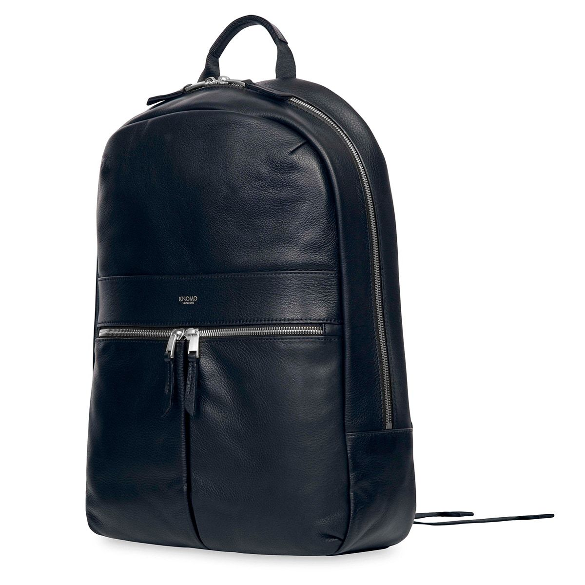 "KNOMO Beaux Leather Laptop Backpack Three Quarter View 14"" -  Dark Navy Blazer 