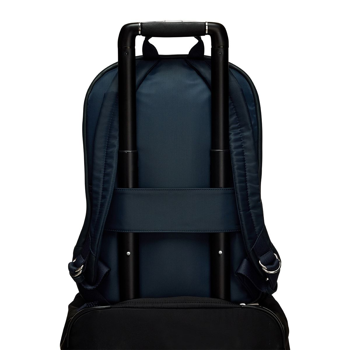 "KNOMO Beaux Leather Laptop Backpack Trolley Sleeve View 14"" -  Dark Navy Blazer 