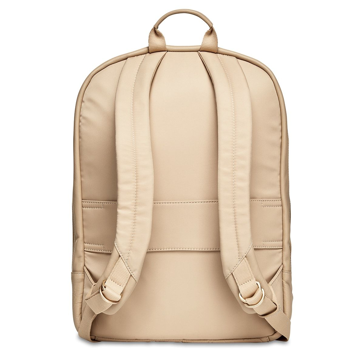 "KNOMO Beaux Laptop Backpack From Back 14"" -  Trench Beige 