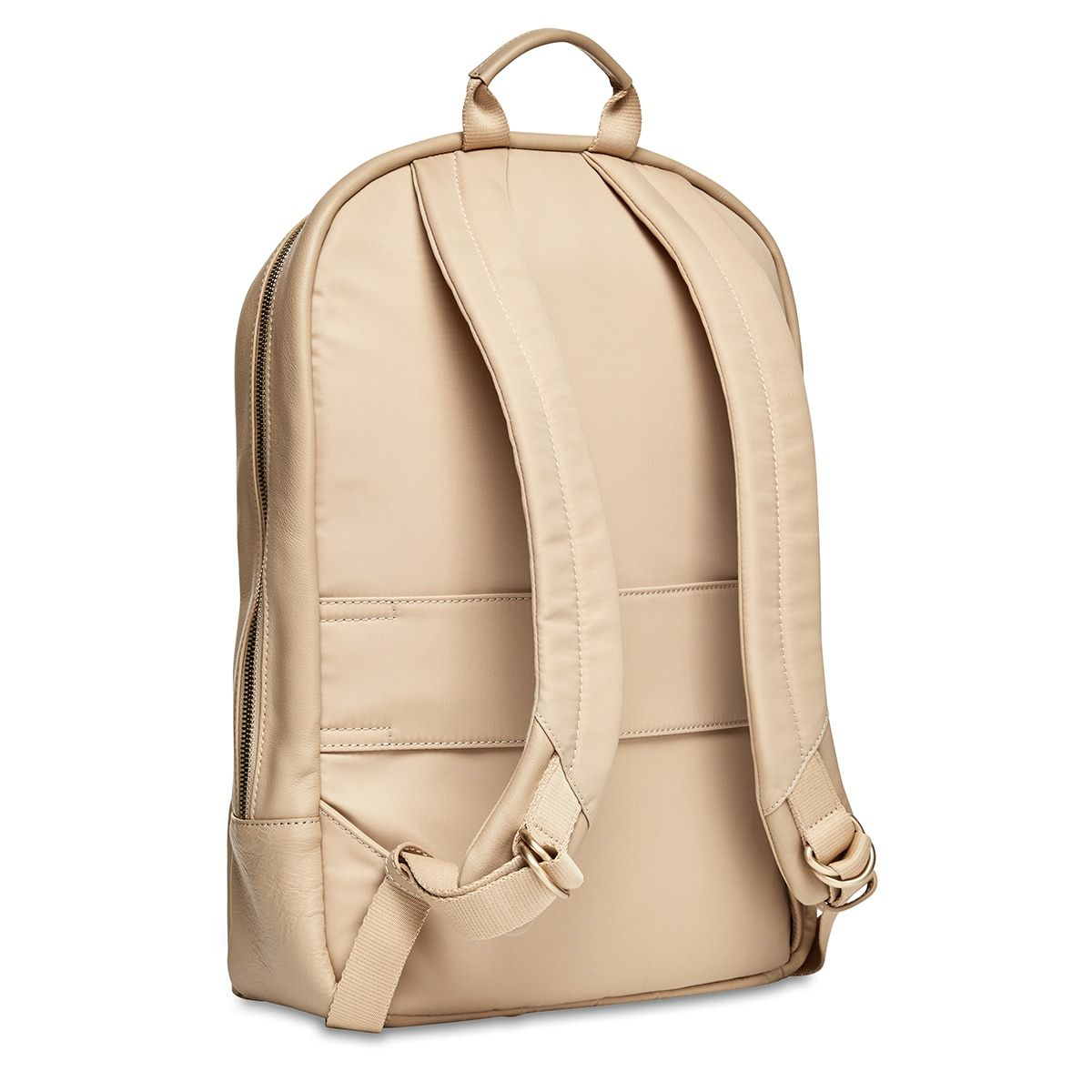 "KNOMO Beaux Laptop Backpack Three Quarter View From Back 14"" -  Trench Beige 
