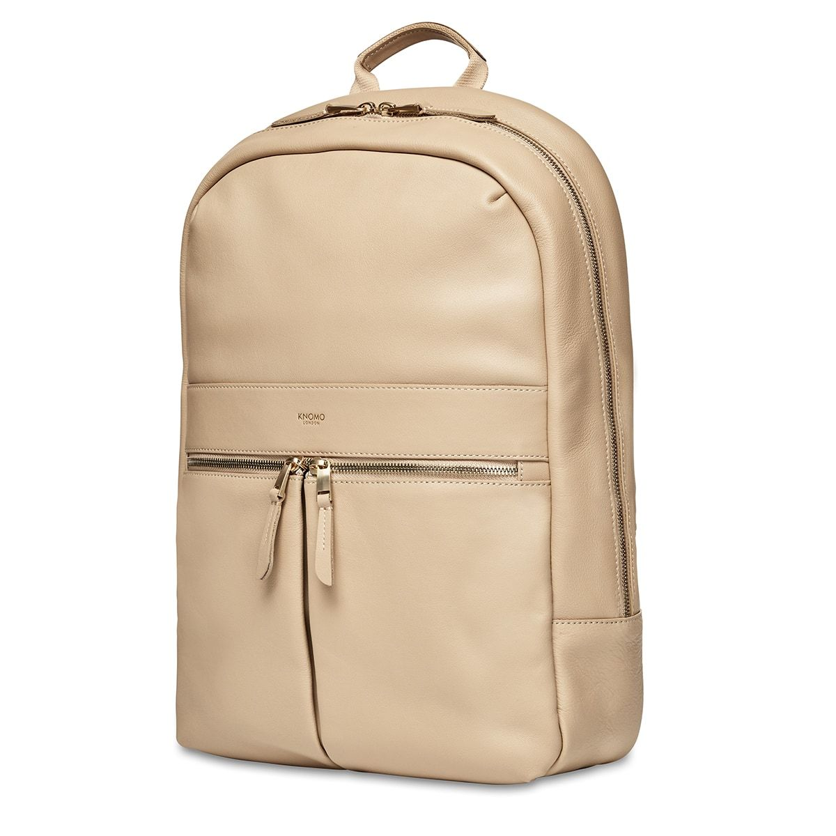 "KNOMO Beaux Laptop Backpack Three Quarter View 14"" -  Trench Beige 