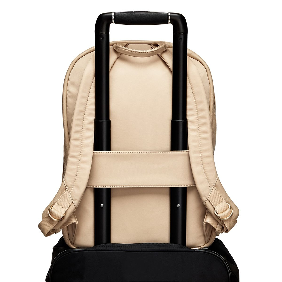 "KNOMO Beaux Laptop Backpack Trolley Sleeve View 14"" -  Trench Beige 