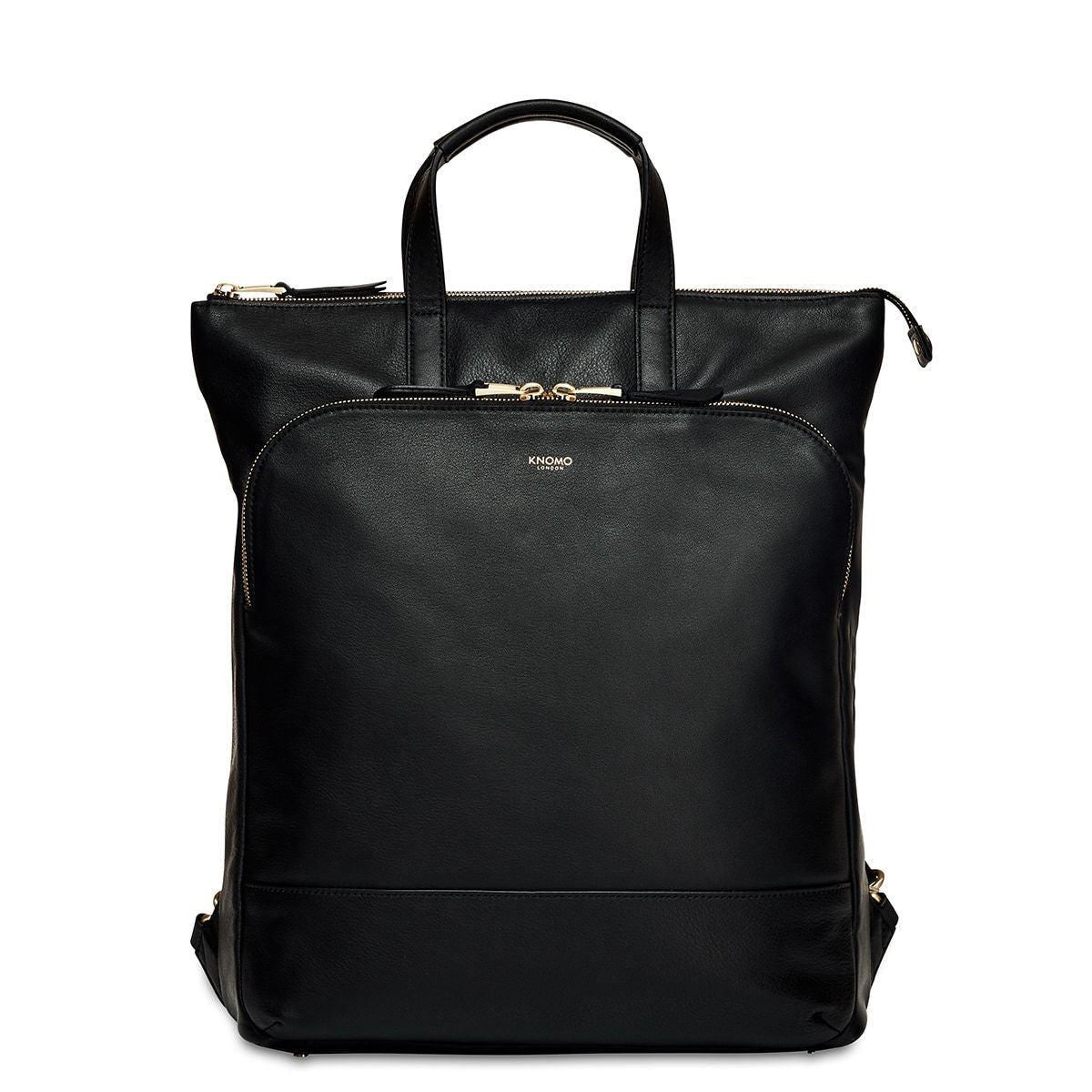 "KNOMO Harewood Laptop Tote Backpack From Front 15"" -  Black 
