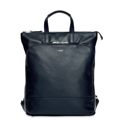 "KNOMO Harewood Leather Laptop Tote Backpack - 15"" From Front 