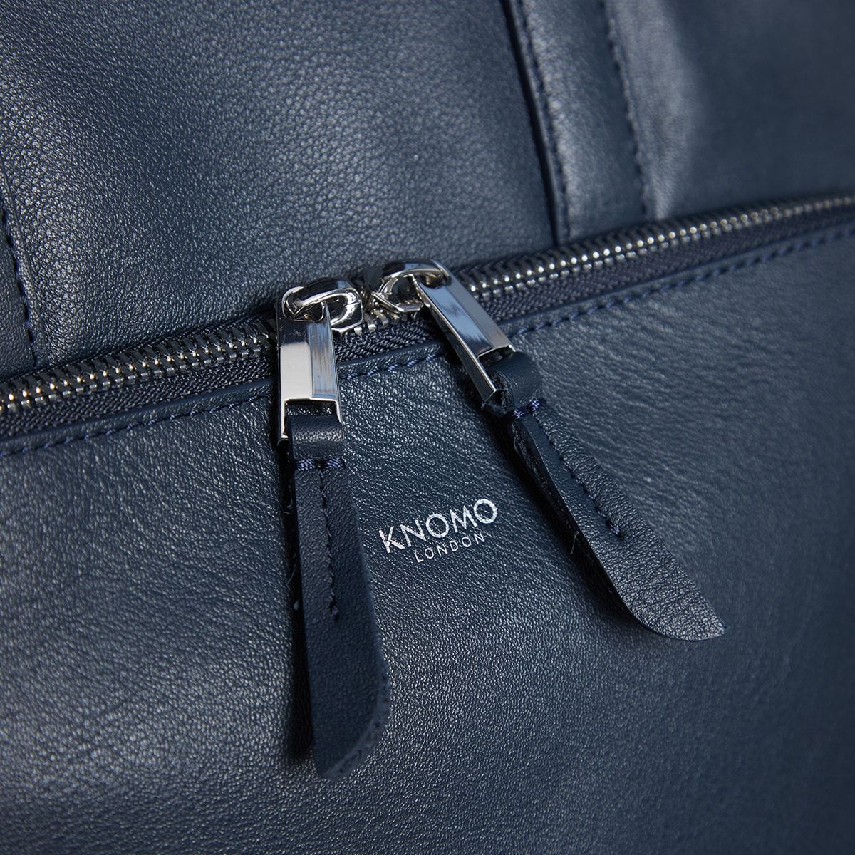 "KNOMO Harewood Laptop Tote Backpack Zip Close Up 15"" -  Dark Navy Blazer 