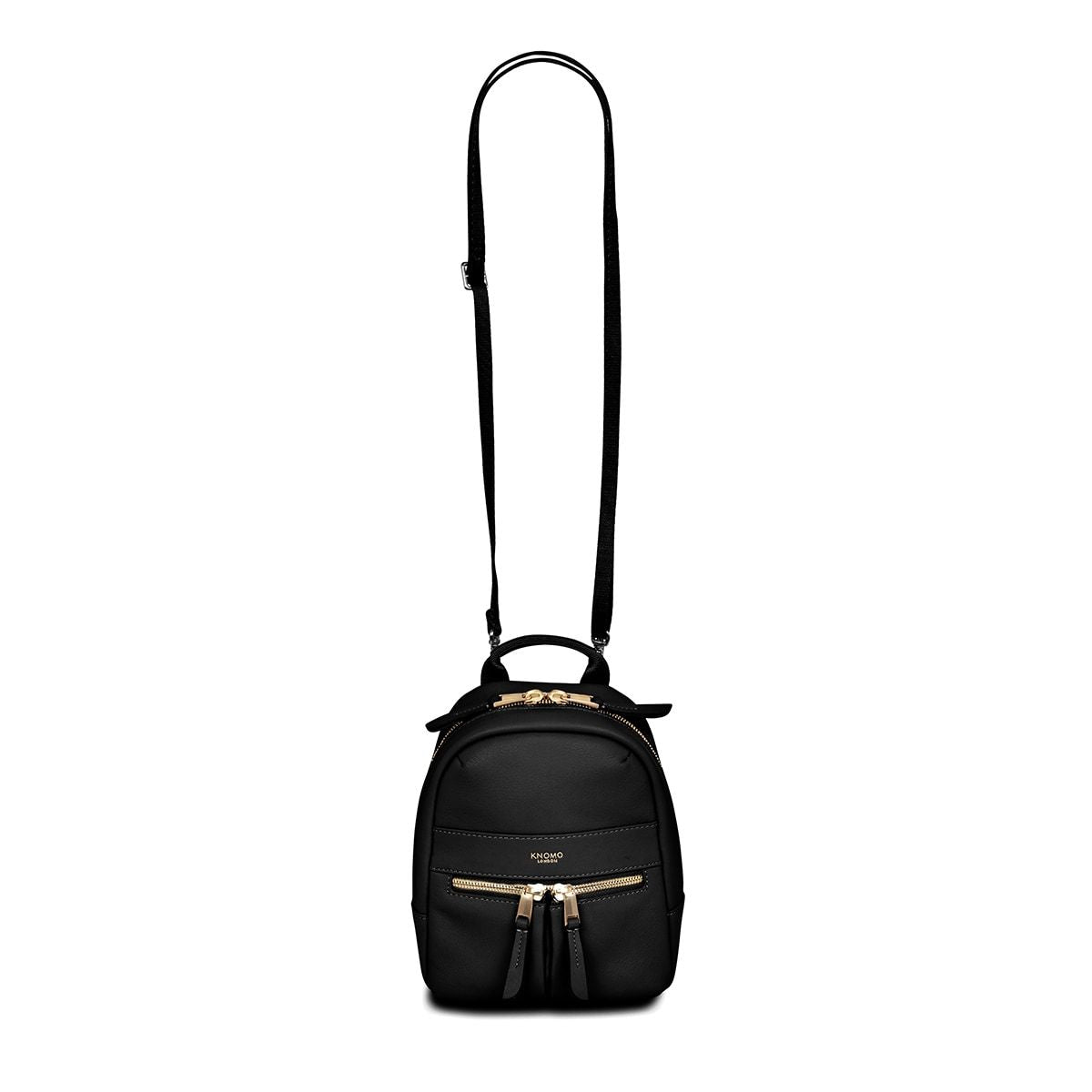 "KNOMO Beauchamp XXS Backpack / X-Body From Front With Straps 6"" -  Black 