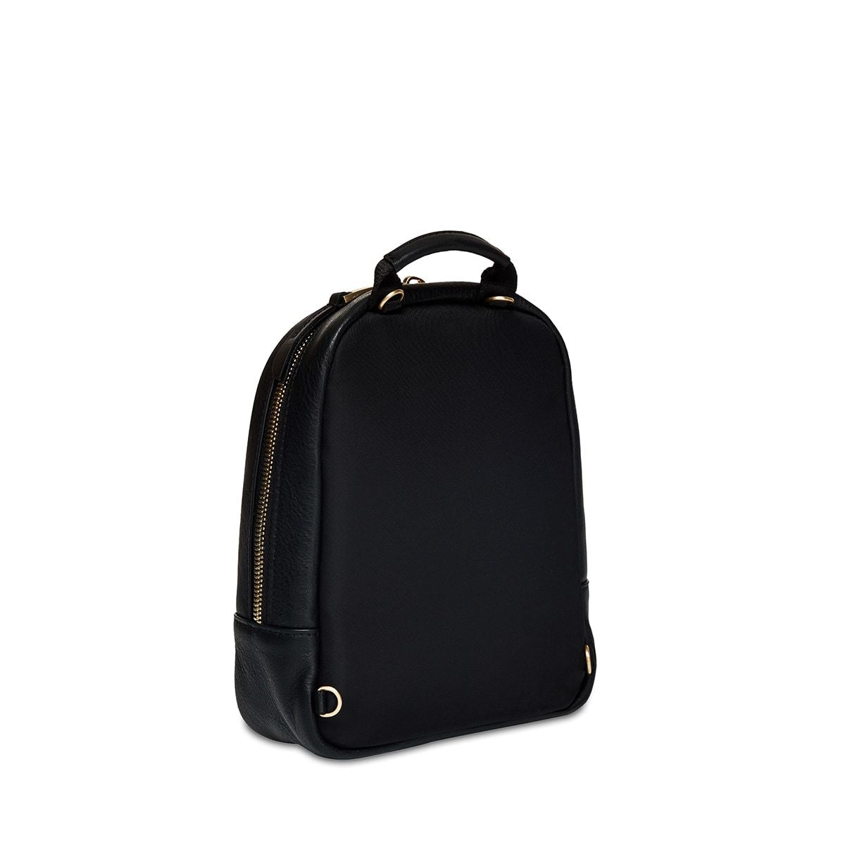 "KNOMO Beauchamp XXS Backpack / X-Body Three Quarter View From Back 6"" -  Black 