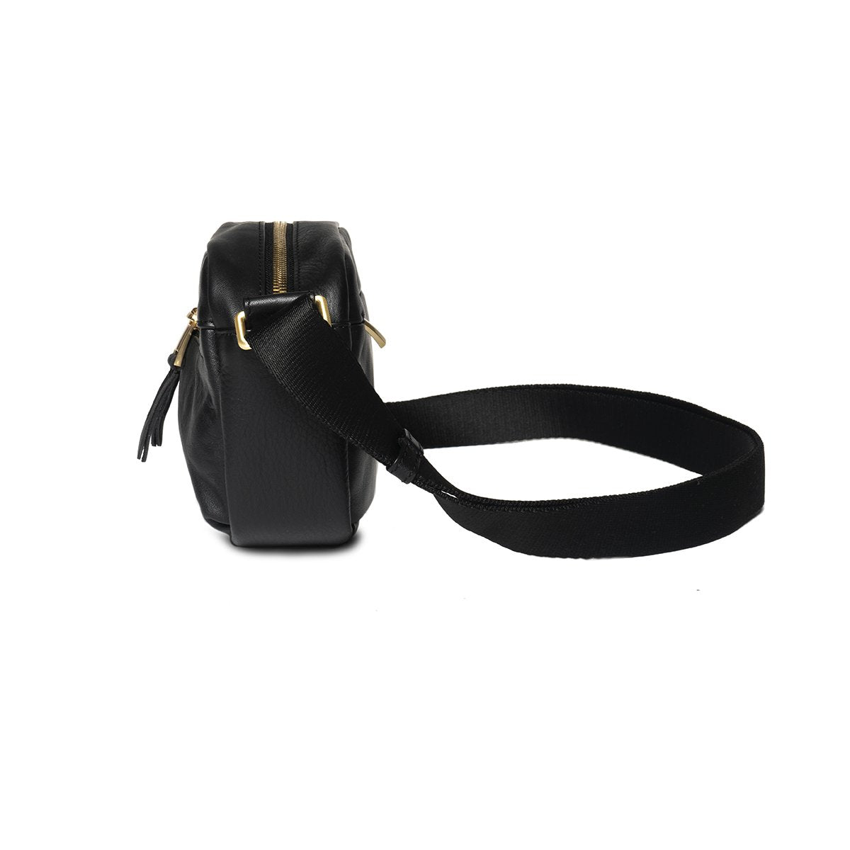 "KNOMO Brook Mini Cross-Body From Side 10.5"" -  Black 