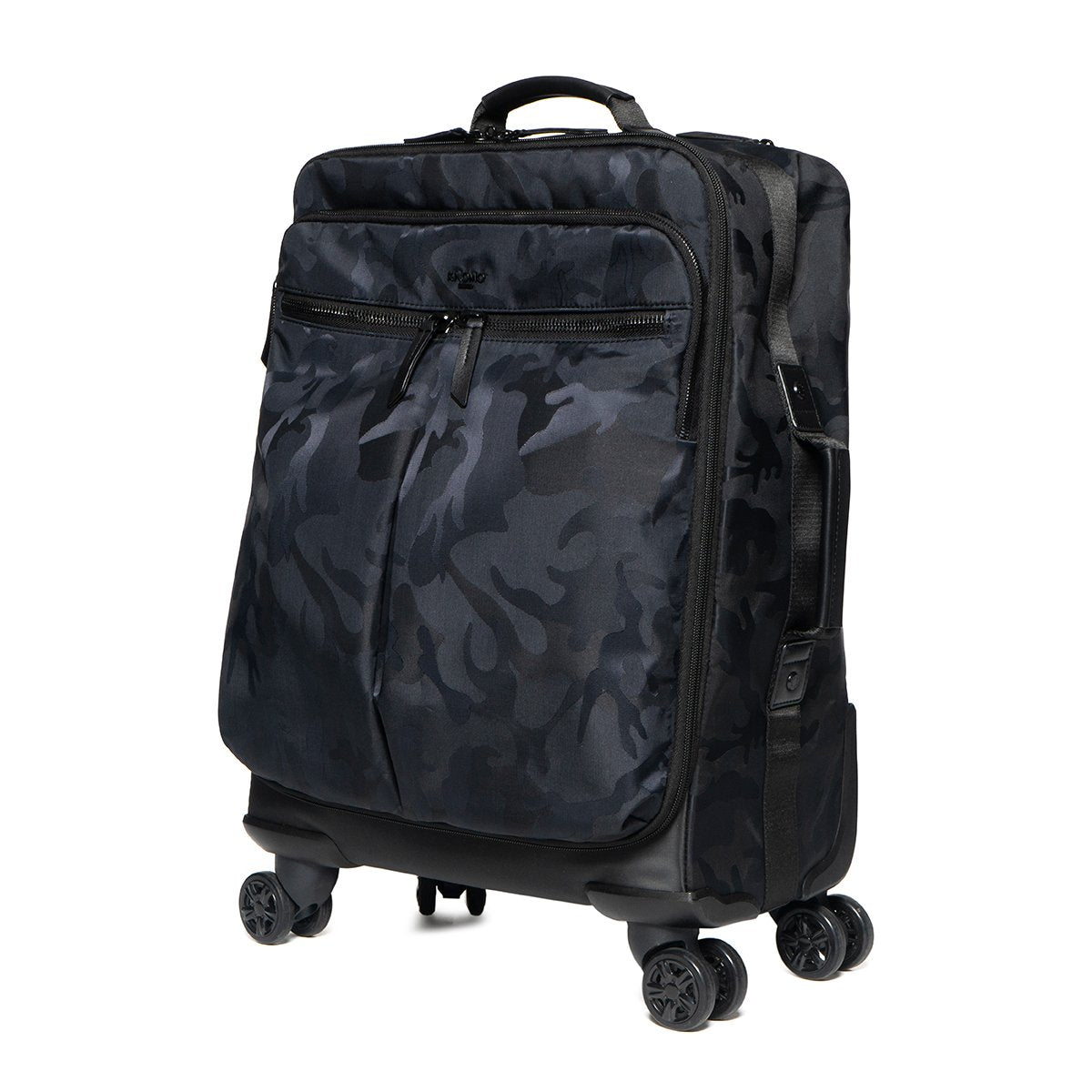 "KNOMO Park Lane Boarding Tote Three Quarter View 15"" -  Black Camouflage 