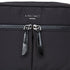 "KNOMO Palermo Ultra Lightweight X-Body Zip Detail Close Up 10.5"" -  Black 