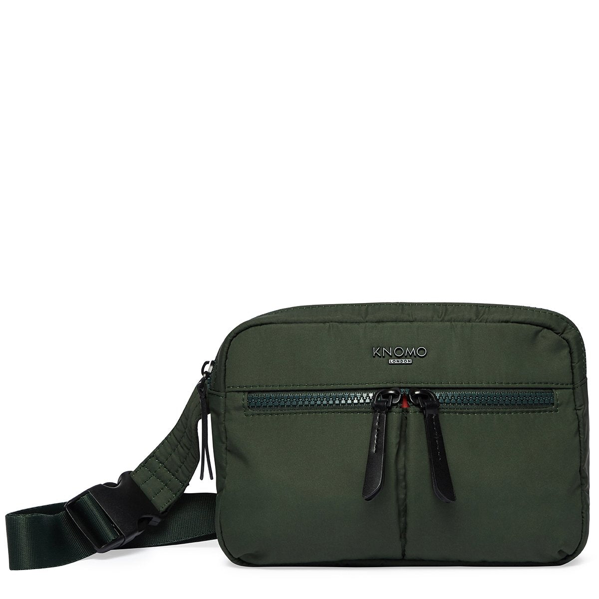 "KNOMO Palermo Ultra Lightweight X-Body From Front 10.5"" -  Bottle Green 