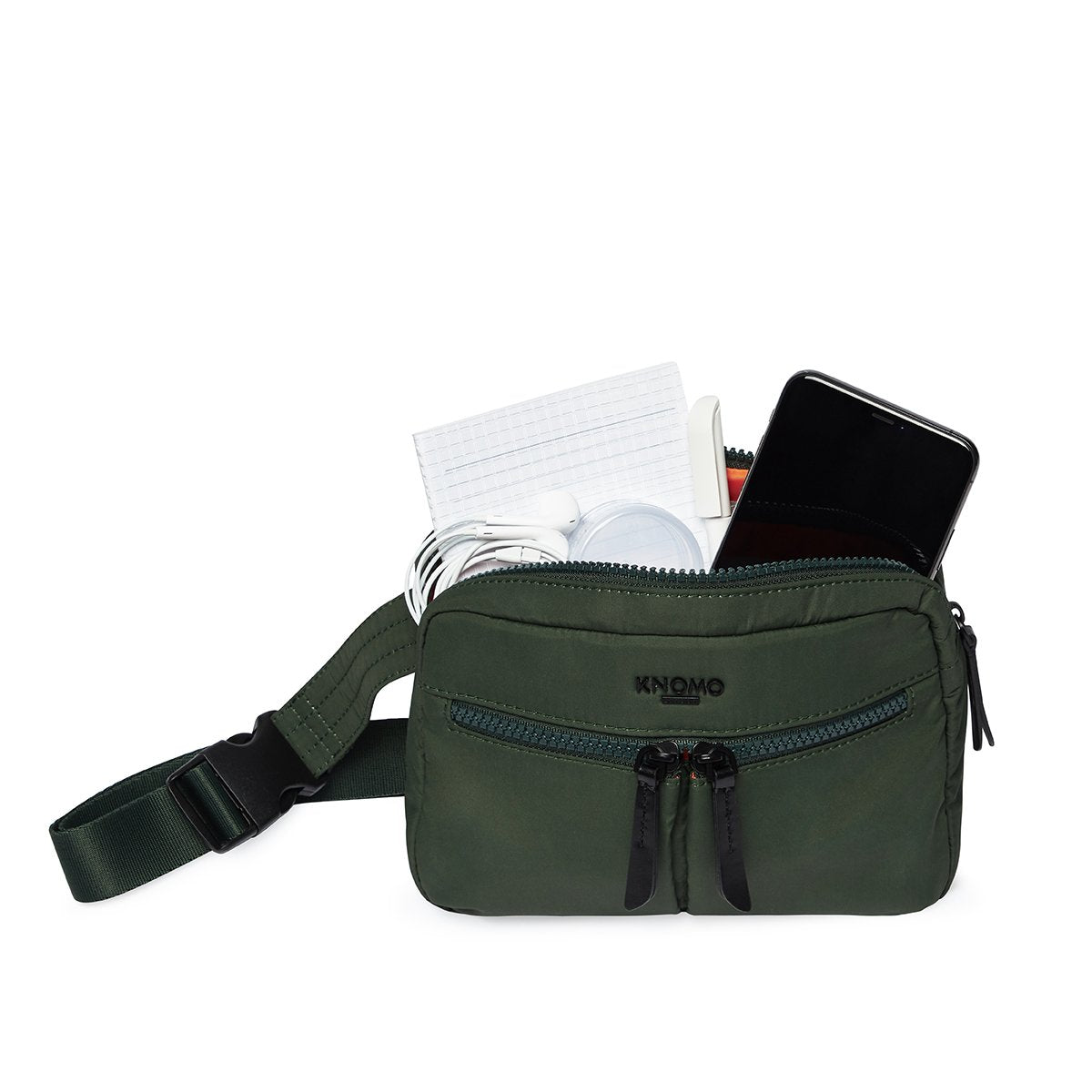 "KNOMO Palermo Ultra Lightweight X-Body Internal With Items 10.5"" -  Bottle Green 