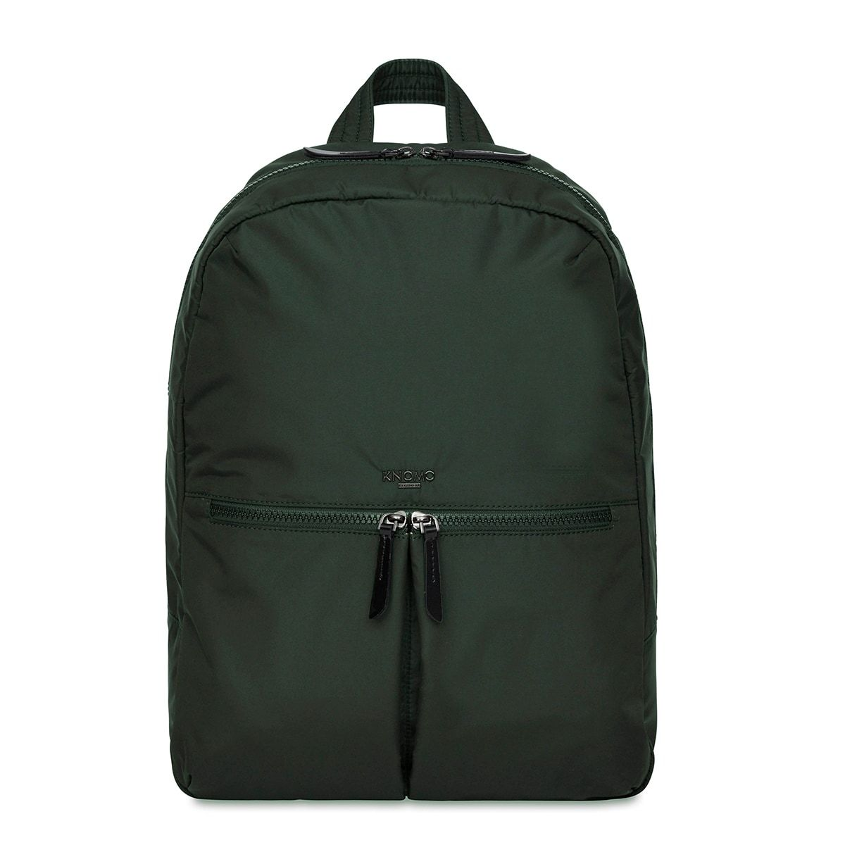 "KNOMO Berlin Laptop Backpack From Front 15"" -  Bottle Green 