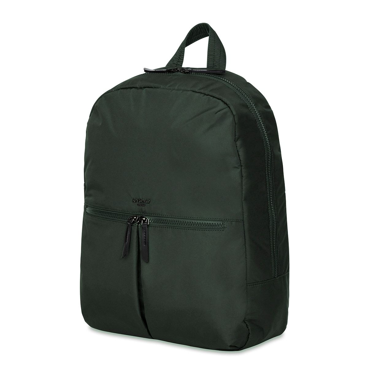 "KNOMO Berlin Laptop Backpack Three Quarter View 15"" -  Bottle Green 