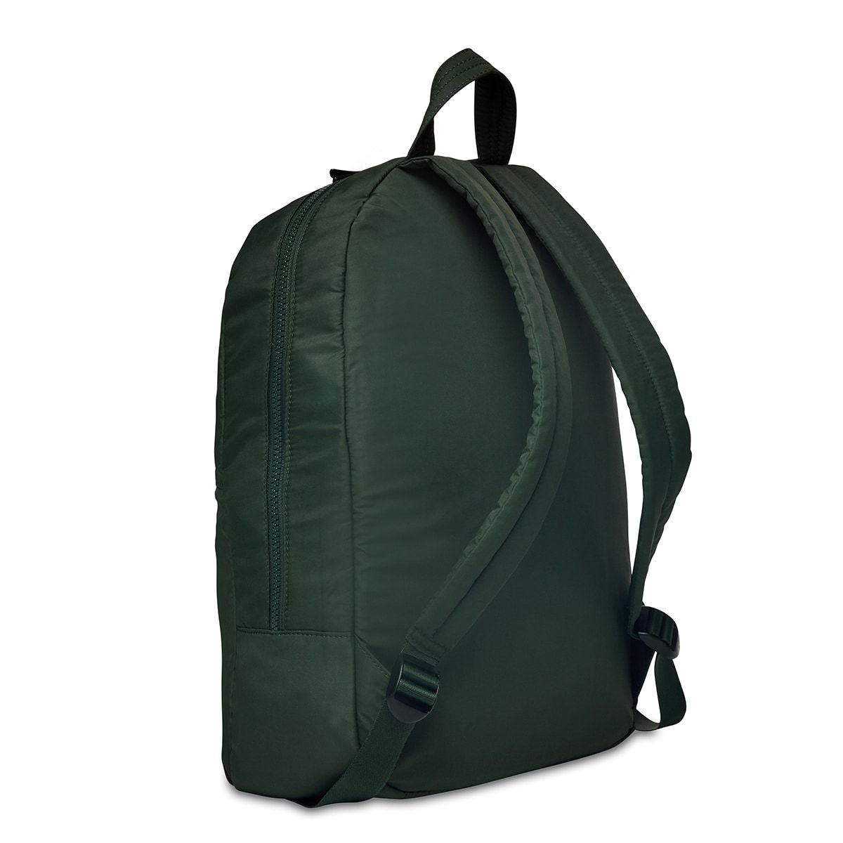 "KNOMO Berlin Laptop Backpack Three Quarter View From Back 15"" -  Bottle Green 