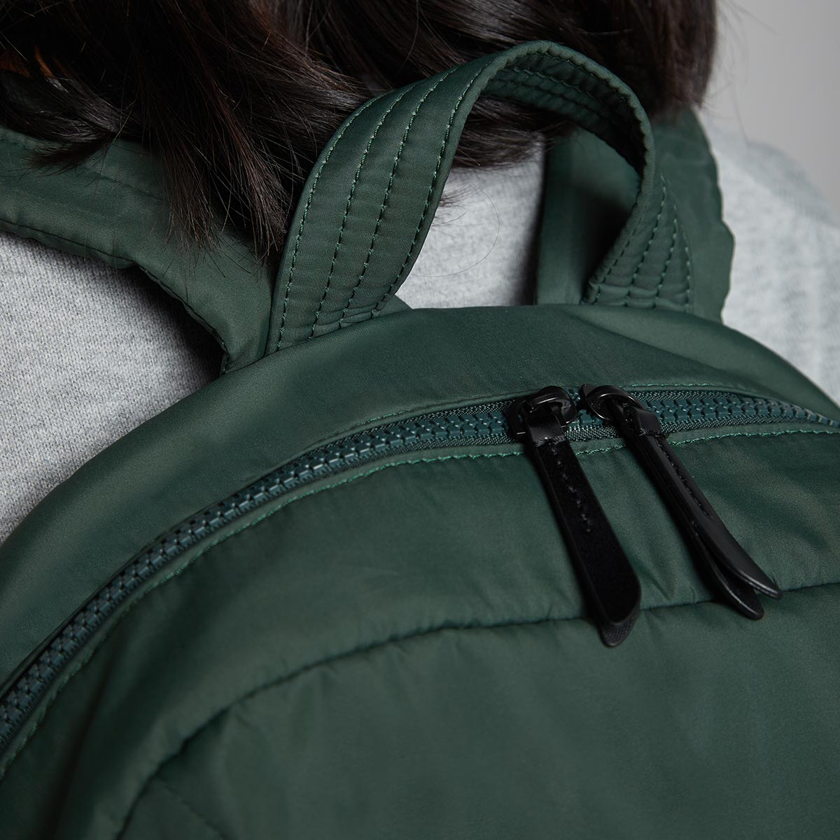 "KNOMO Berlin Laptop Backpack Close Up Handle 15"" -  Bottle Green 