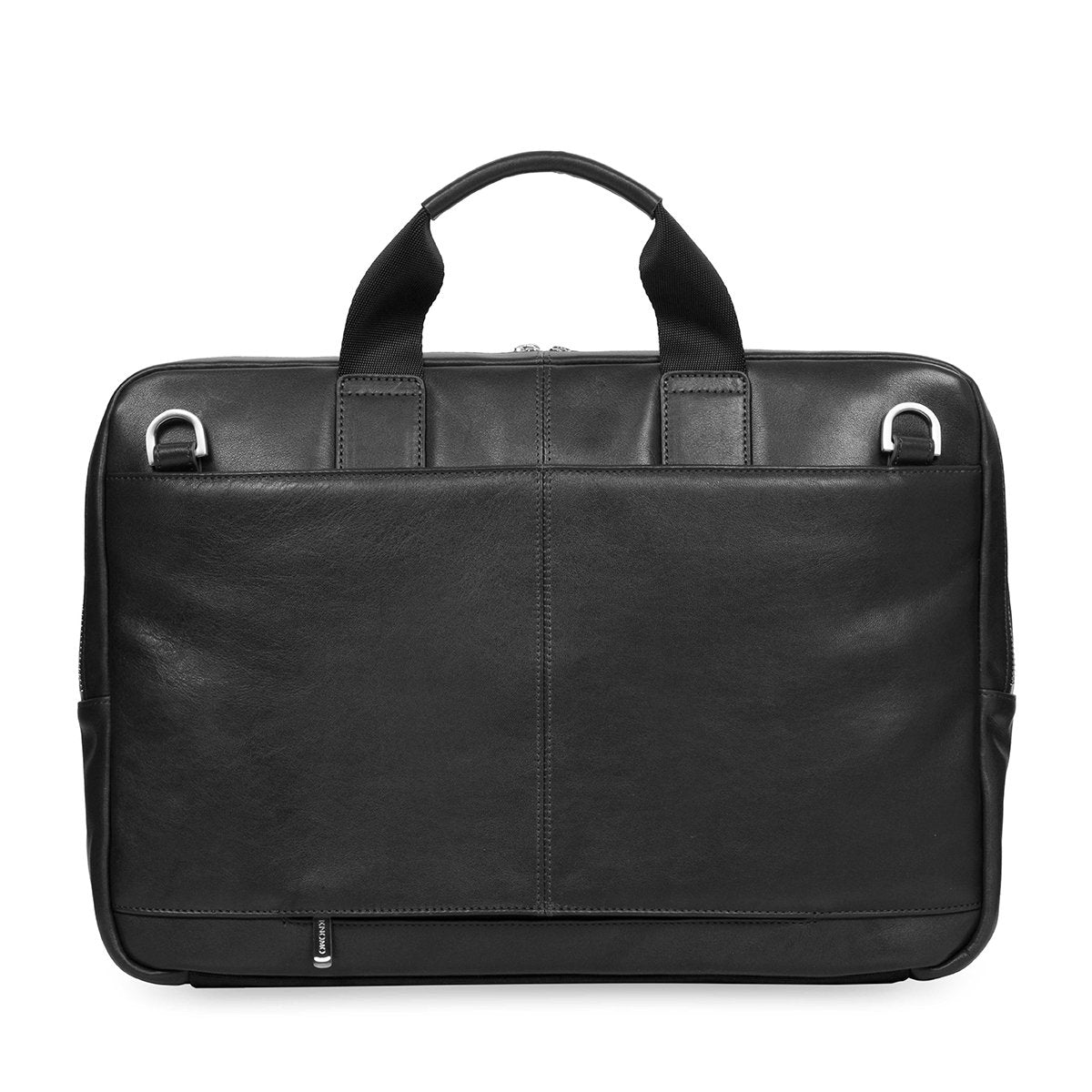 "KNOMO Newbury Laptop Briefcase From Back 15"" -  Black 