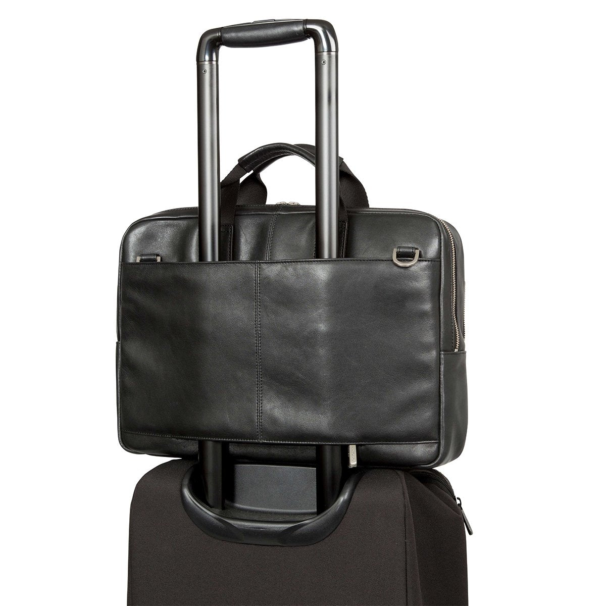 "KNOMO Newbury Laptop Briefcase Trolley Sleeve View 15"" -  Black 