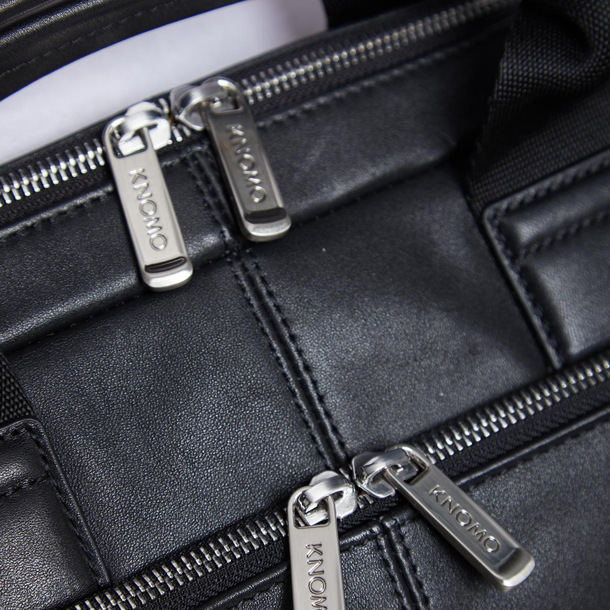 "KNOMO Newbury Laptop Briefcase Zip Close Up 15"" -  Black 