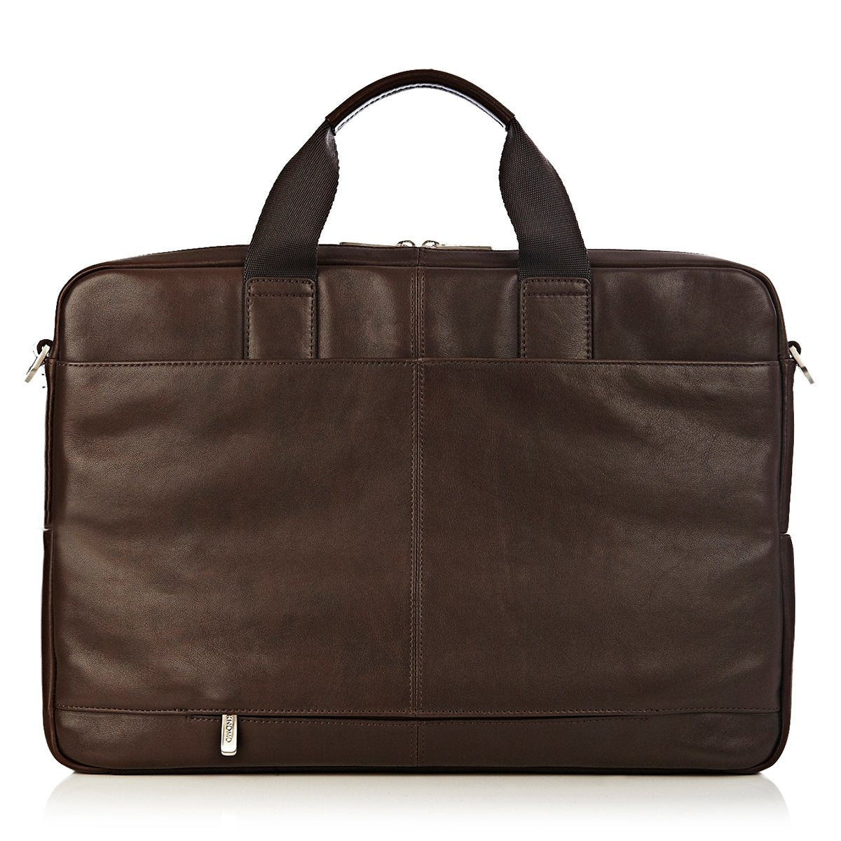 "KNOMO Amesbury Laptop Briefcase From Back 15"" -  Brown 
